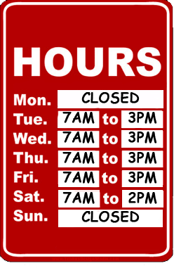 Doggie Den Business Hours